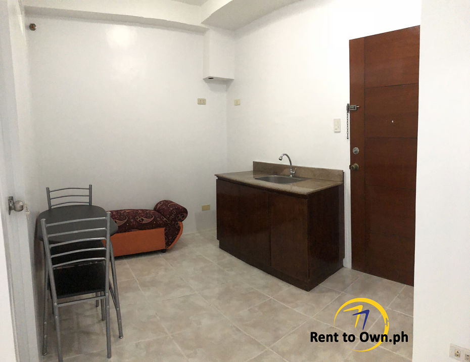 Rent to Own Quezon City - Living Kitchen Dining