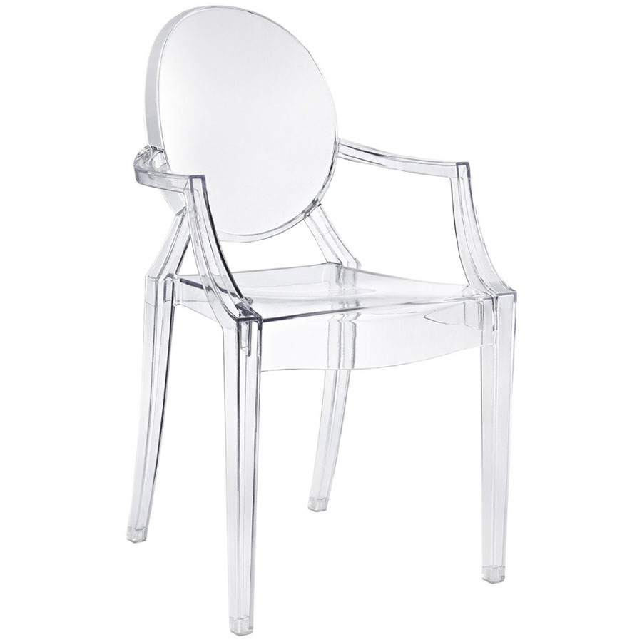 Dining Chair Clear Transparent Retro Kartell Louis Ghost Inspired ...