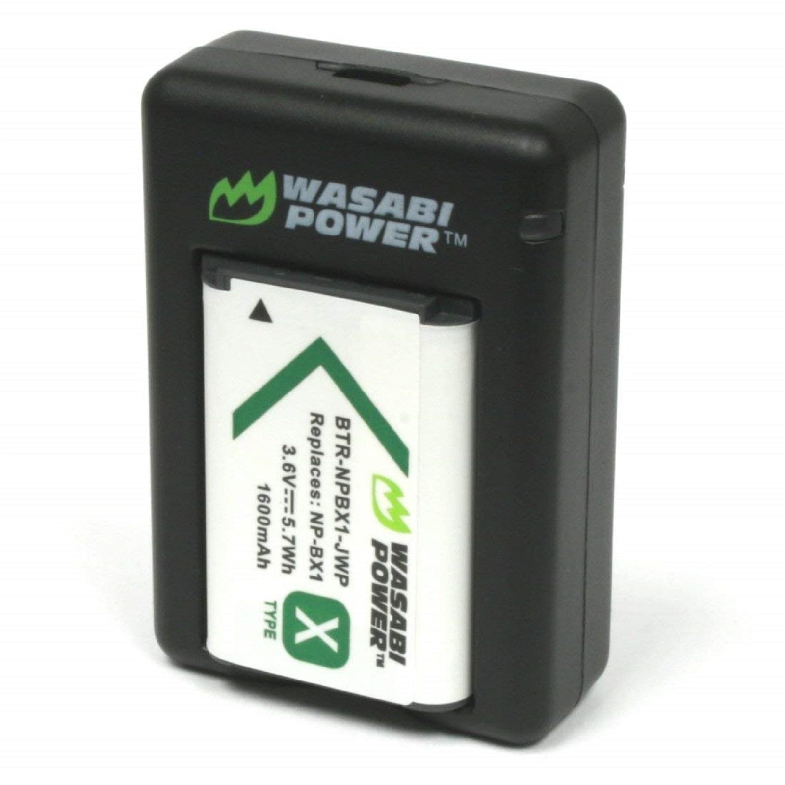 2x NP-BX1//M8 Batería Para Cámara FDR-X1000V//W FDR-X3000 X3000R SONY Action Cargador